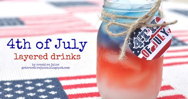 Fourth of july drink inspiration non alcoholic drinks for Fourth of july drinks non alcoholic