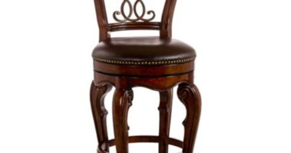 Hillsdale Burrell 30 Quot Brown Cherry Swivel Bar Stool Bar