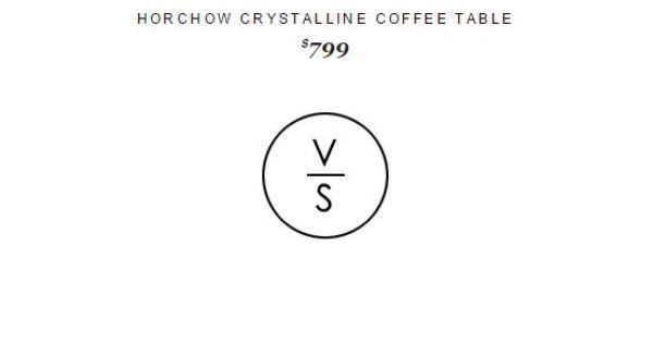 horchow Crystalline Coffee Table 799 Vs cb2pins