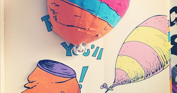 Paper mache balloons taken from quot oh the places you ll go quot by dr seuss balloon party ideas