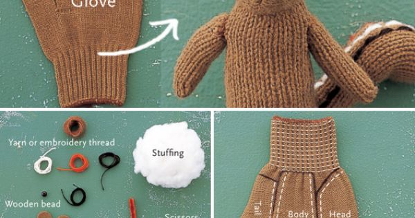 Glove Bear. All the instructions are in French but also have pics.