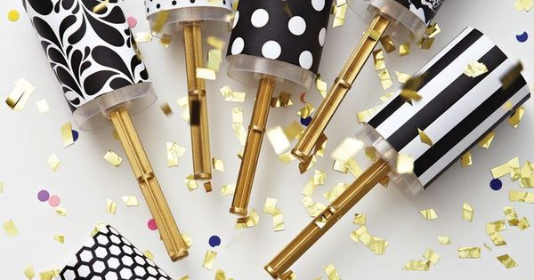 DIY Wedding Confetti Poppers New Years Eve