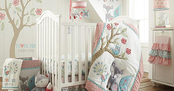 Levtex Baby Fiona 5 Piece Crib Bedding Set Lamps Crib