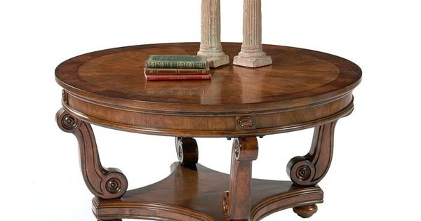 298 Victorian Manor Round Cocktail Table Occasional Tables Raleigh Furniture Home Comfort