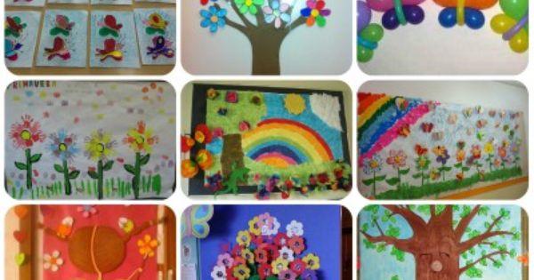 collage decoracin primavera