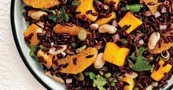 Black Rice Salad with Mango and Peanuts - summer salad