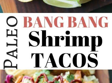 Paleo Bang Bang Shrimp Tacos - This recipe tastes JUST like the