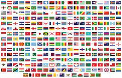 Flags Of The World Royalty Free Stock Photography Flags Of The World World Map Photo Stock Photography Free