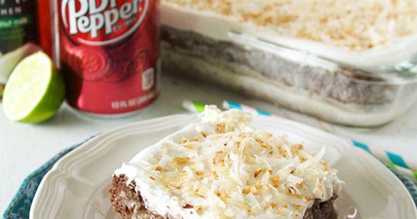 Dirty Dr. Pepper Poke Cake on MyRecipeMagic.com cake dirty drpepper poke