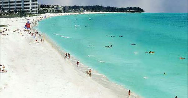 Siesta Key Beach in Siesta Key, Florida. Ranked as the nation's best