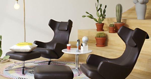 grand repos lounge sessel ottoman von vitra einen neuen ohrensessel plus pouf aus dem hause. Black Bedroom Furniture Sets. Home Design Ideas