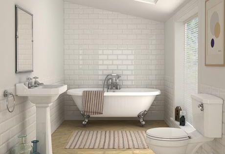 carlton traditional double ended roll top bathroom suite wooden