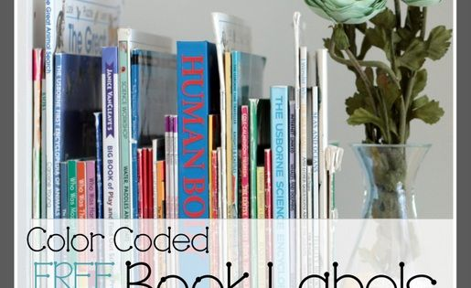 FREE Printable Color-Coded Book Spine Labels for home ...