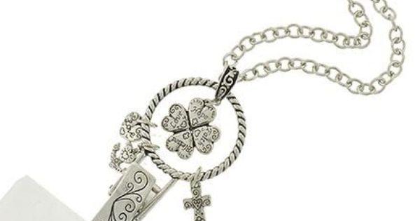 Id badge holder silver love hope faith badge holder for Brighton badge holder jewelry