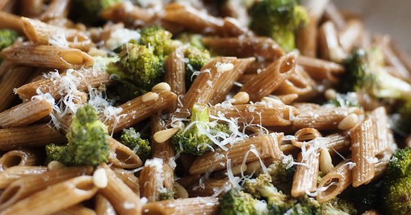 Penne with roasted broccoli, pine nuts and balsamic butter   Recipe ...