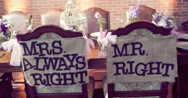 Funny wedding signs for the bride & groom at the reception