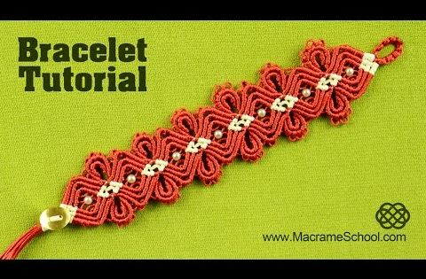 macram diamond flower bracelet tutorial youtube. Black Bedroom Furniture Sets. Home Design Ideas