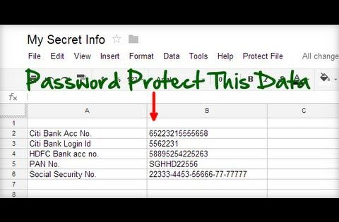 Password Protect Google Spreadsheet Document Google Pinterest - google docs spreadsheet