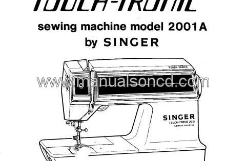 Singer Touch Tronic 2001a Service And Repair Manual 154