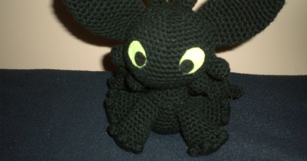 Amigurumi How To Train Your Dragon : Toothless from