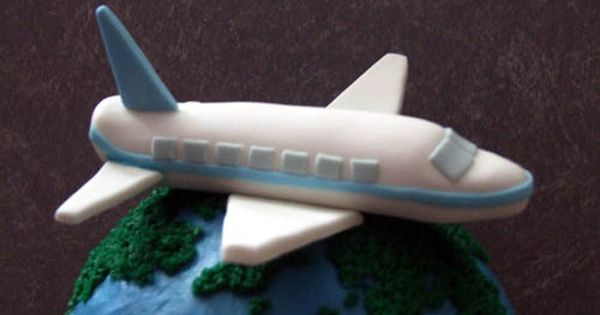 airplane cake topper fondant airplane picture birthday ideas 1250