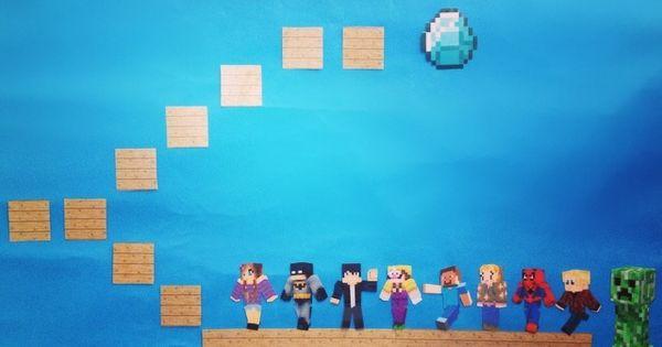 Halloween Classroom Decorations ~ Minecraft inspired individual reward chart children win a