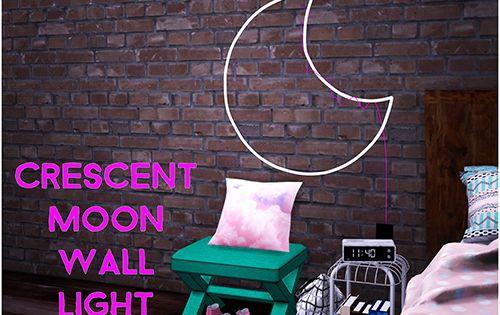 Simsworkshop Sympxls Crescent Moon Wall Light Sims 4