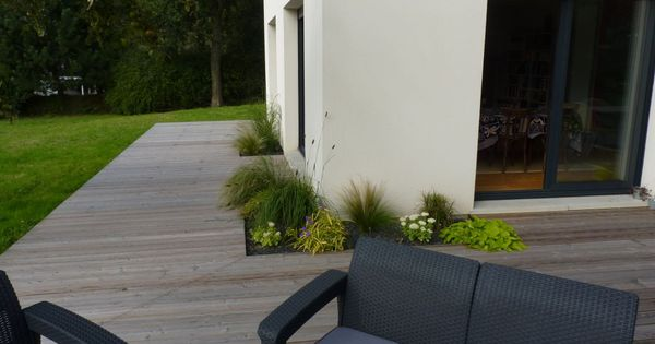 Plantations incrust es dans la terrasse am nagement ext rieur pinterest - Pinterest amenagement exterieur ...