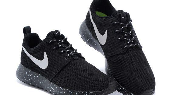 Nike Roshe Run Mesh Ink Spot Black Shoes
