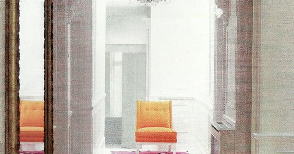 Use multiple rugs down a narrow hallway (via Red mag) i like