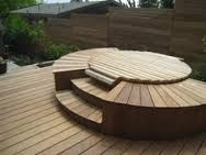 Deck With Hidden Hot Tub Good For Putting A Table On Top If