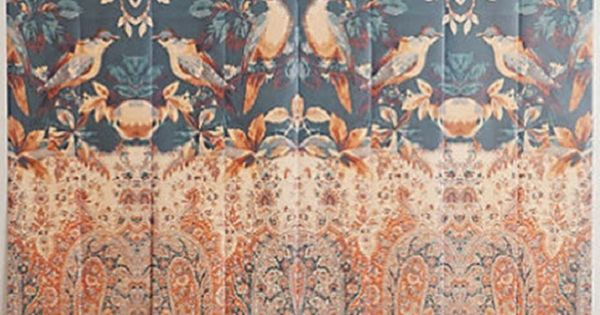 Anthropologie mural wallpaper stencils pinterest for Anthropologie wall mural