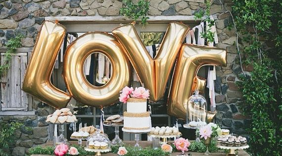 40 Inch Giant Letter Balloons / Wedding / Birthday Party / Baby