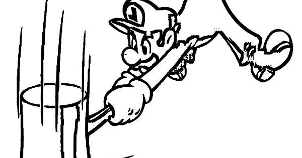 Luigi Hitting Hard With Mallet Coloring Pages Download Print Online Coloring Pages For Free Color Ni Online Coloring Pages Coloring Pages Online Coloring