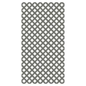 Veranda 4 Ft X 8 Ft Nantucket Gray Garden Vinyl Lattice 73004145 The Home Depot Plastic Lattice Decorative Screen Panels Decorative Screens