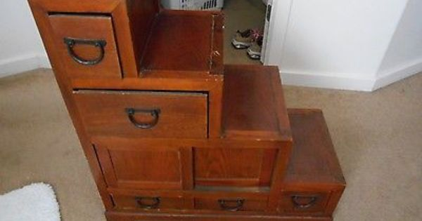 Antique Library Step Stool Ladder With Storage Step Stool Stool Childrens Step Stool