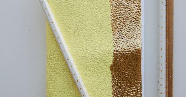 DIY Crafts DIY Leather and Gold Leaf Notebook