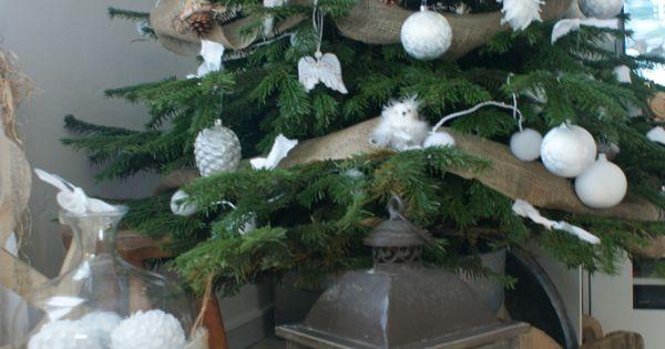 Mon joli sapin de noel blanc et naturel no l christmas decoration tables de f tes - Joli sapin de noel ...