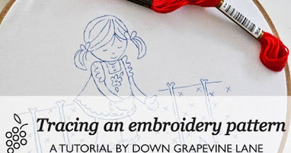Tracing an embroidery pattern tutorials by down