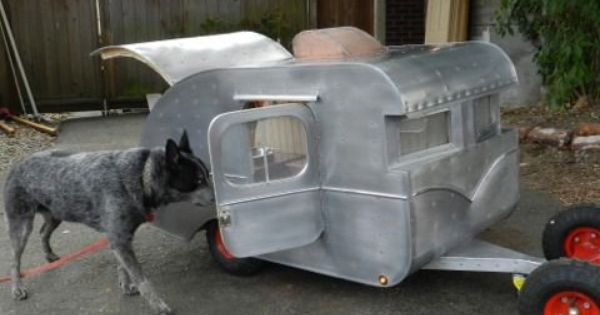 Made By Company In Seattle On Craigslist Cool But Spendy Teardrop And Canned Ham Kennel Trailers For Fido Glamping Trailer Vintage Trailer Trailers For Sale