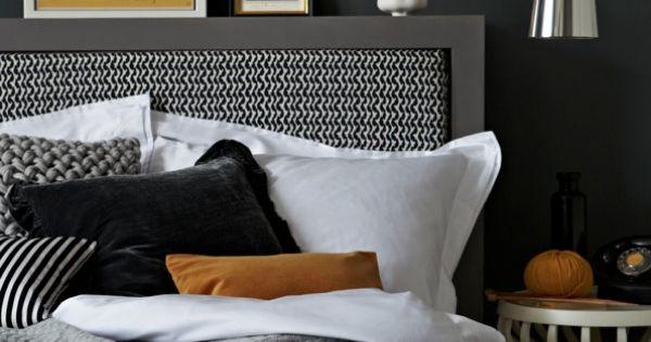 Kleurinspiratie voor in huis zwart in je interieur zwarte muren staan chique en maken een - Hoofdbord wit hout ...