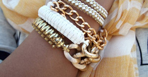 White & Gold accessories!
