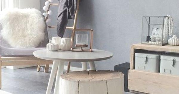 Style d co salon deco pinterest murs gris gris et meubles en bois - Trend deco huis ...