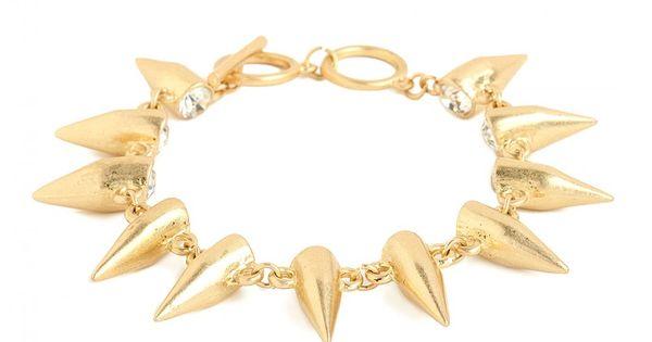#BaubleBar Gold Bullet Bracelet