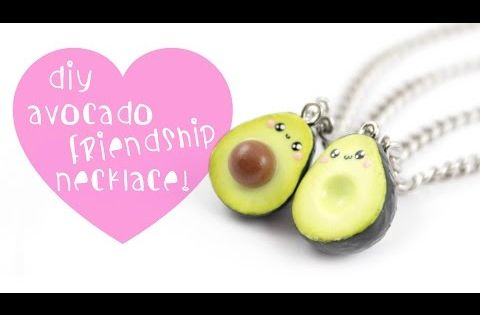 Kawaii Avocado Friendship charms polymer clay tutorial Kawaii Charm Tutorials Pinterest ...