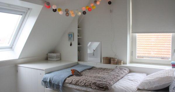 Amazing Jugendzimmer Mit Dachschräge Dekoration Lichterkette Modern   Kinderzimmer    Pinterest Pictures