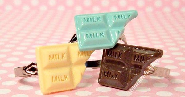 Sweet Lolita Pastel Candy Bar Adjustable Ring by blacktulipshop, $4.50