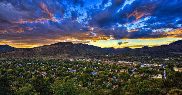 A majestic sunset in Durango, Colorado.