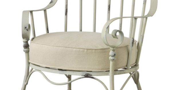 Windsor Style Arm Chair With Beige Cushion Product Chair
