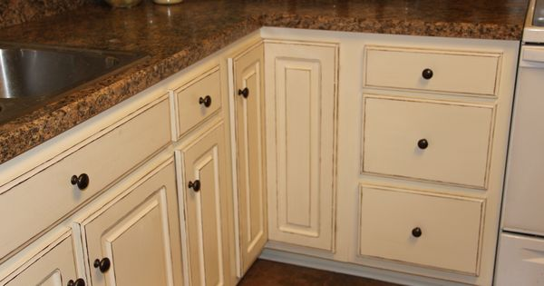 Cece caldwell vintage white cabinets with custom chestnut for Cece caldwell kitchen cabinets